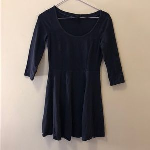 Blue Cotton A Frame Dress